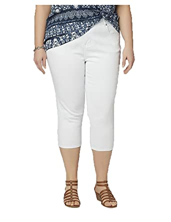 64687a15b9af8 Image Unavailable. Image not available for. Color  SIMPLY EMMA Women s Plus  Capri Jeans.