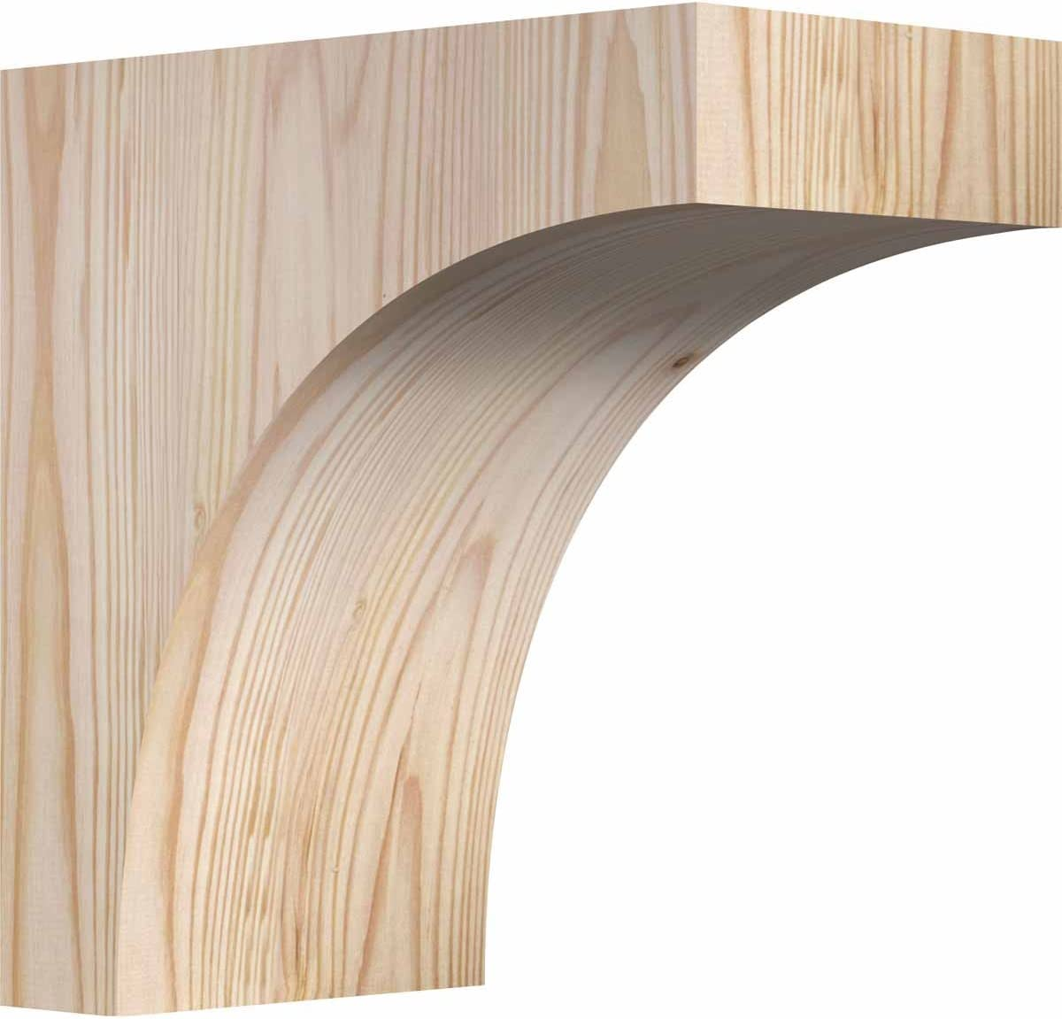 Ekena Millwork Smooth Corbel 12D x 16H 3 1//2W Douglas Fir
