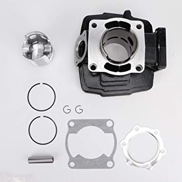 Suuonee Cylinder Kit 66mm Motor Aluminium Cylinder Piston Assembly Kit Passend Für Dt175 Auto