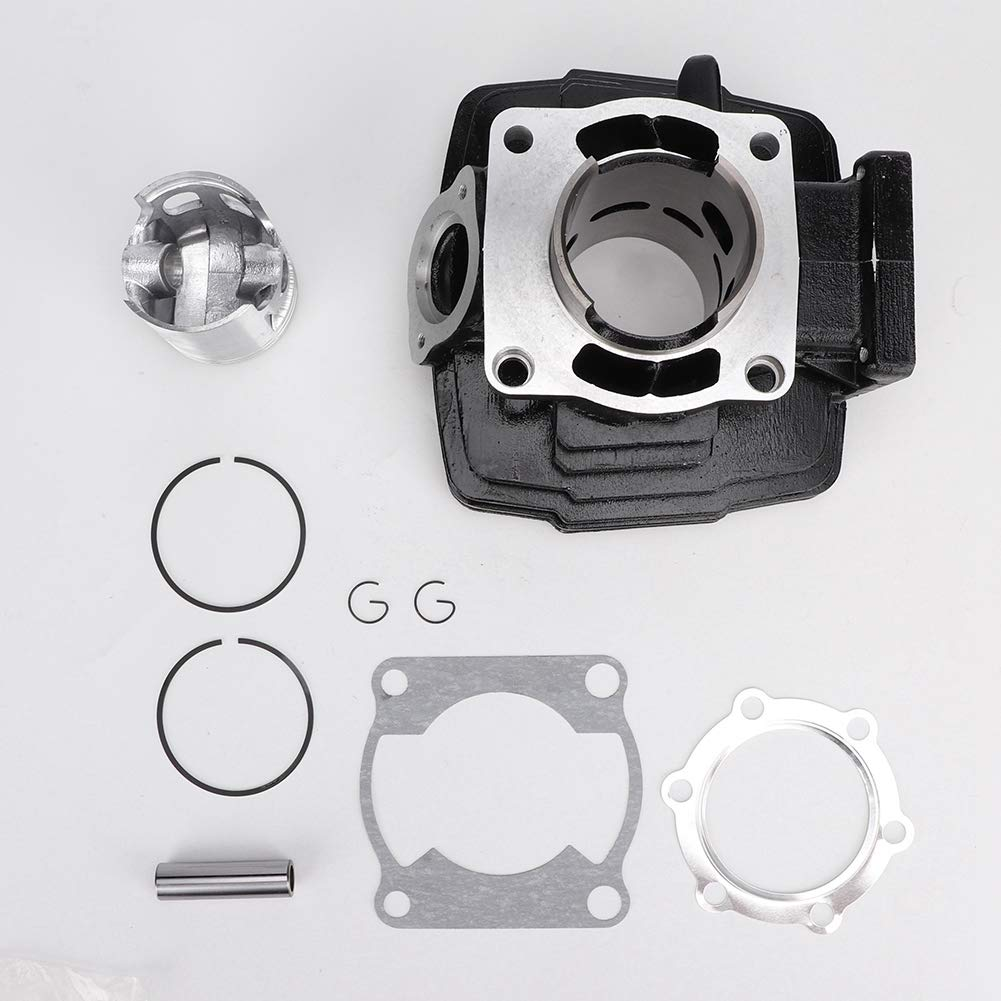 Akozon Engine Cylinder Piston Kit 66mm in Aluminum for Yamaha DT175 by Akozon