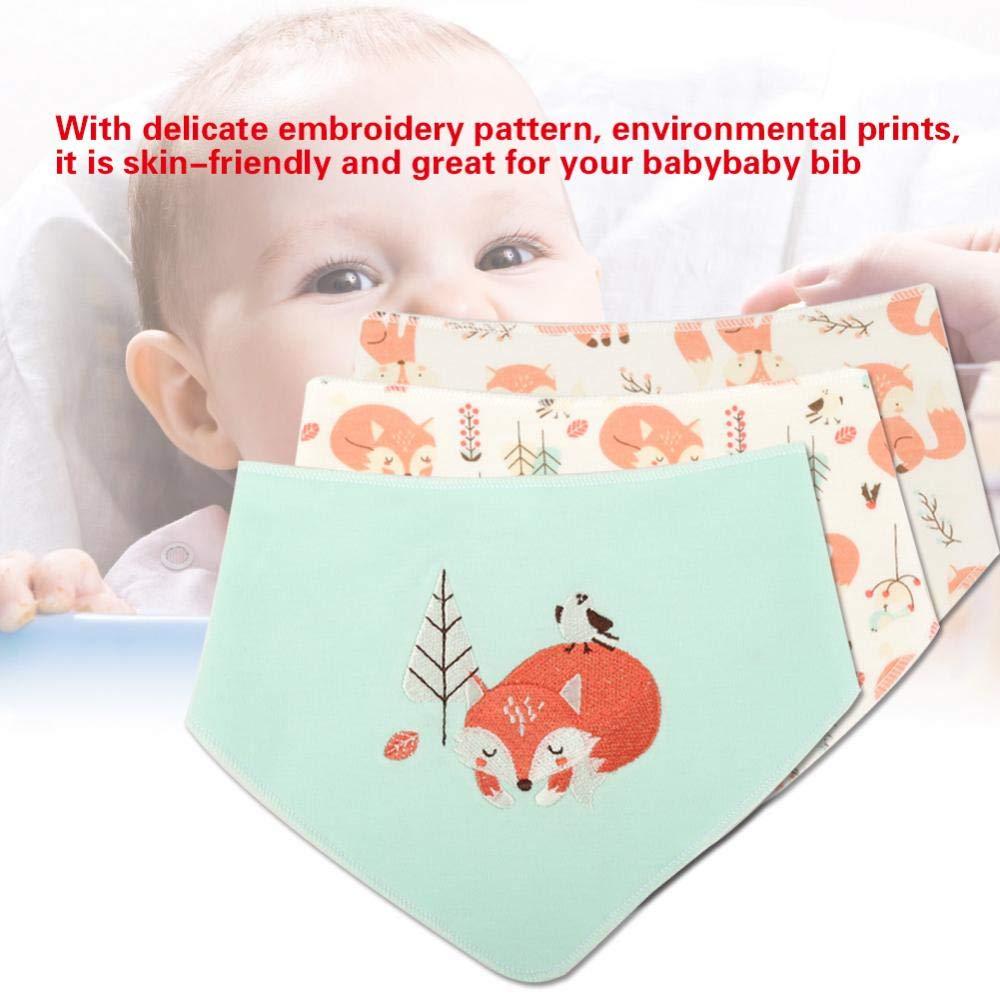 B/är L/ätzchen Baby Weiche Baumwolle Spucktuch Dreieckstuch Unisex Baby Shower Geschenk f/ür Baby Neugeborenen