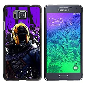 TaiTech / Prima Delgada SLIM Casa Carcasa Funda Case Bandera Cover Armor Shell PC / Aliminium - Juez Dr3dd - Samsung ALPHA G850