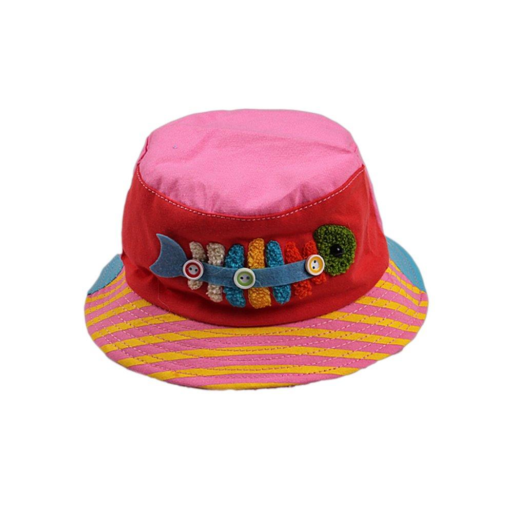 ベビー帽子コットン通気性  Pink And Red B013D6LMOK