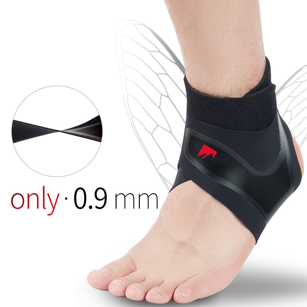 Ankle Brace Compression Support Stabilizer - Adjustable Prevent Sprains Injuries Breathable Neoprene for Football Soccer Basketball Running Protector