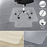 Office Marshal Chair Mat with Lip for Carpet Floors, Low/Medium Pile - 36'' x 48'', Multiple Sizes - 100% Pure Polycarbonate, No-Recycling Material - Transparent, High Impact Strength