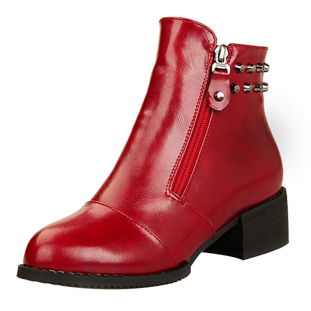 Mavirs Womens Masecr Block Heel Ankle-high Boots 4.5 cm Boots Ankle-high B07GKTHMTS Boots 143717