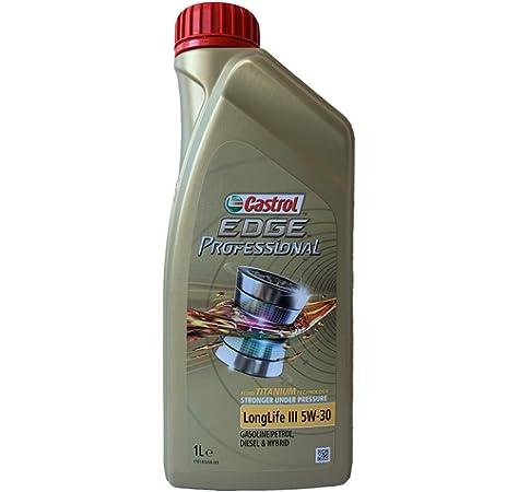 Castrol 57418 EDGE Titanium Aceite para Motor FST 5W-30 LL, 1L (Sello alemán): Amazon.es: Coche y moto