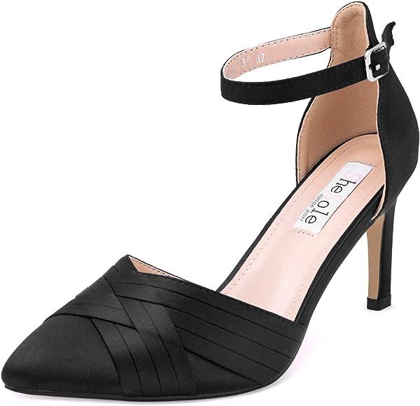 navy and black heels