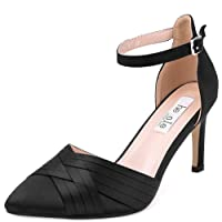 Ladies High Heel Court Shoes Black Navy Pumps for Women Formal Evening Wedding Party