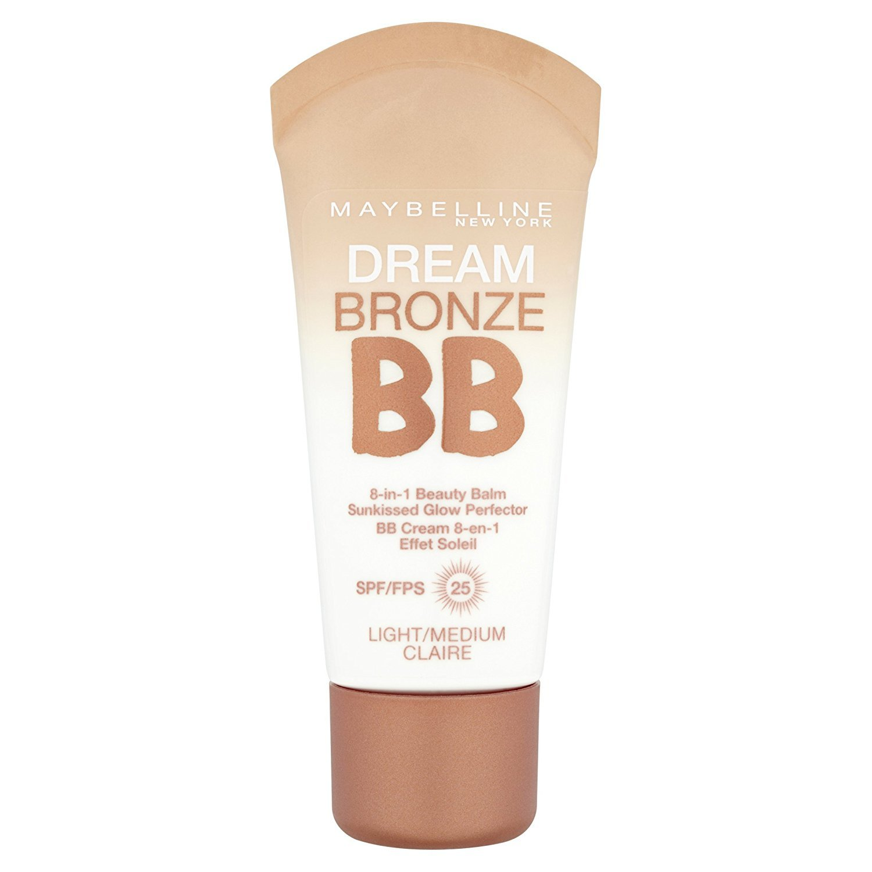 3 x Maybelline Dream Bronze BB 8 in 1 Beauty Balm SPF25 30ml - Light/Medium Maybelline New York