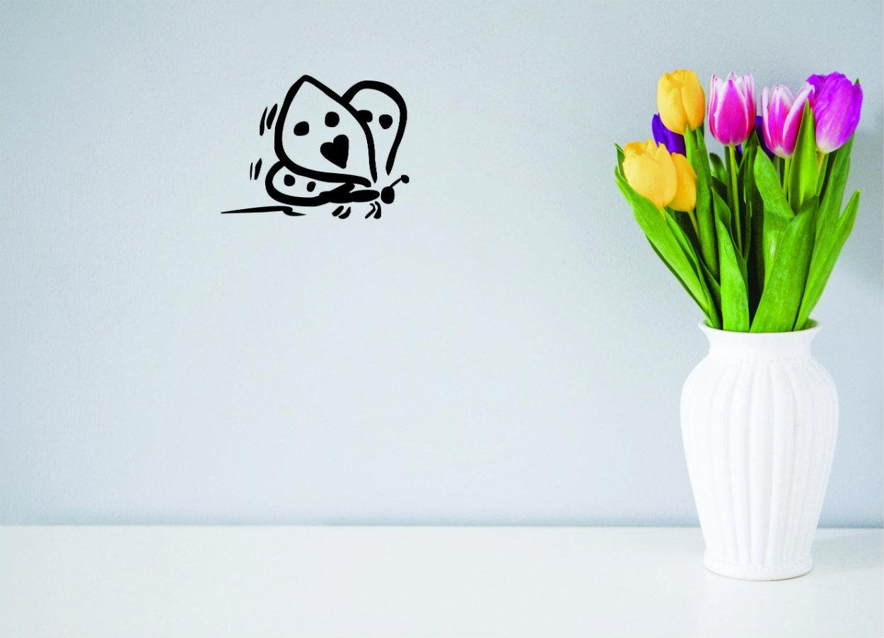 Black Size 18ES x 18ES Design with Vinyl Moti 2139 3 Decal Peel /& Stick Wall Sticker Butterfly Color