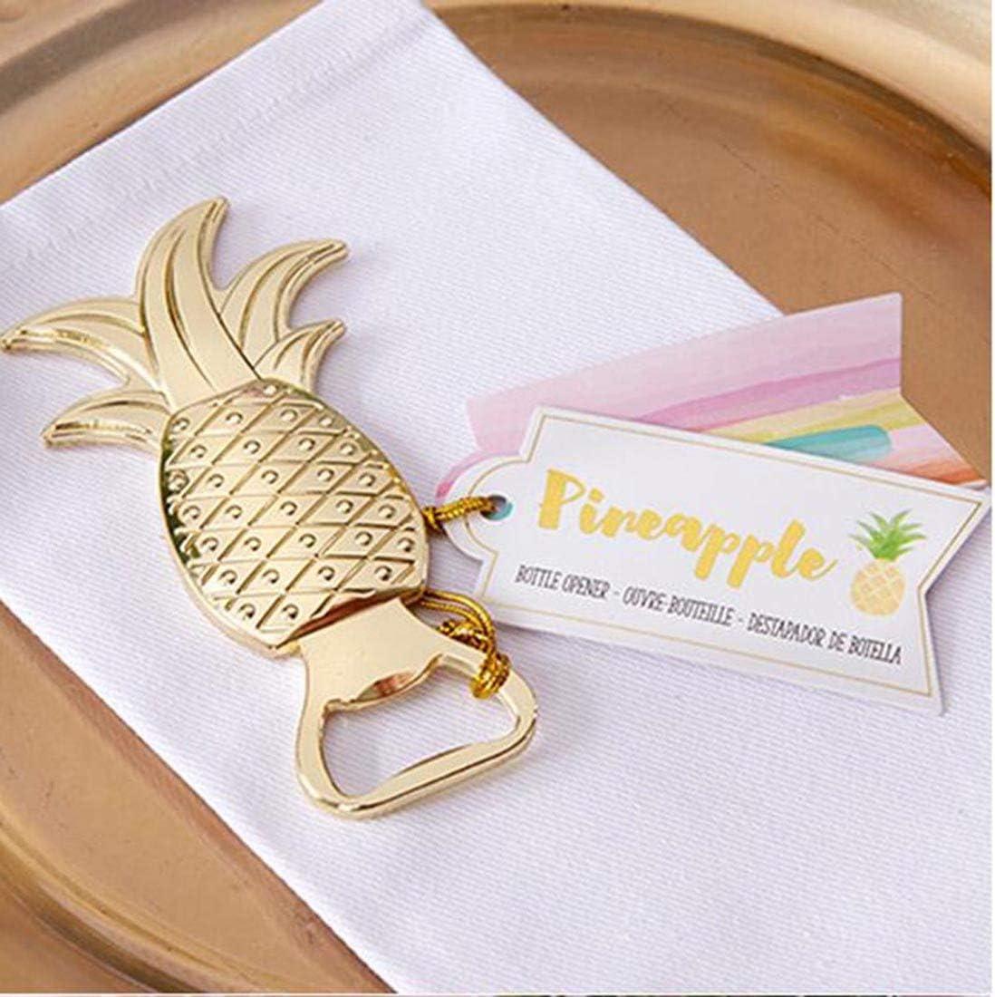 Abrebotellas de piña para regalos de boda para baby shower, regalos de cumpleaños, recuerdos para invitados 20 unidades.