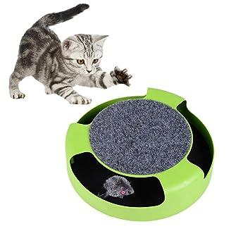 KOBWA Juguetes interactivos para Gatos ratón, un rascador y un Juguete para Gato y ratón, para Hacer Que el ratón se mueva, rascador de Gatos: Amazon.es: ...