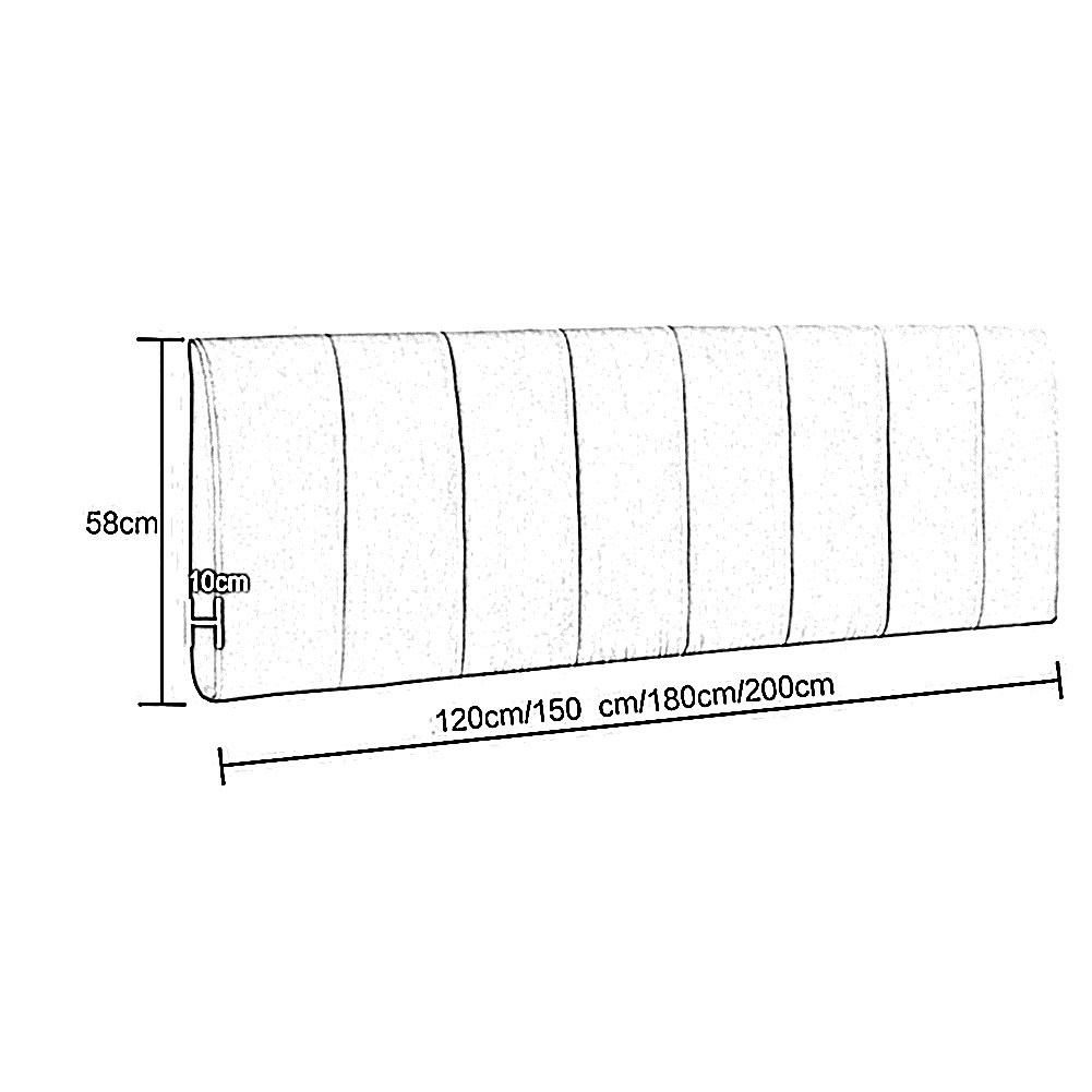 Doppio Formato//Letto cabeceros Decorazione liqicai Grande Testata amortiguar Schienale Supporto Spugna Imbottitura per Scherzo 8/Colori 4/Misure Disponibili 120 * 10 * 58cm Beige