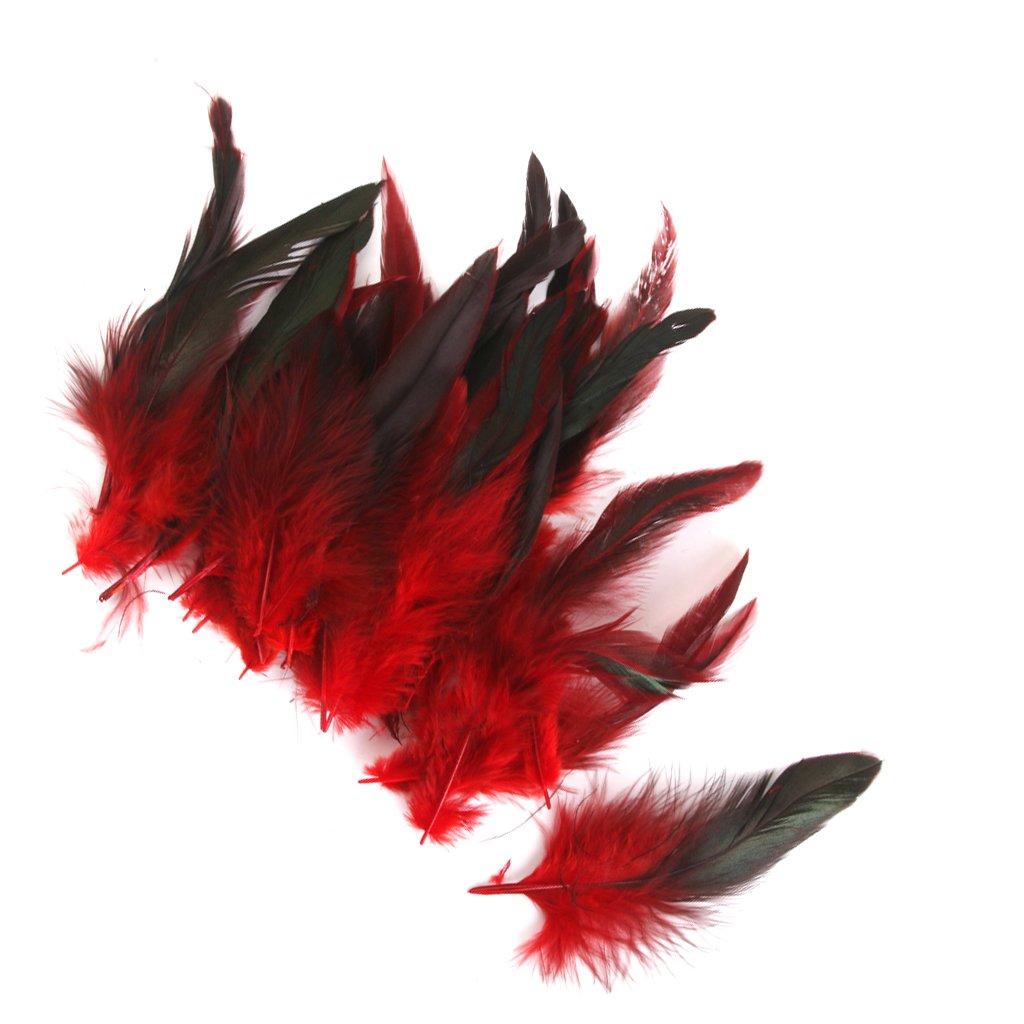 50pcs Plumas de Gallo Decoraci/ón para Disfraces Hogar Bricolaje 12-18cm