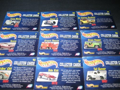 Hot Wheels Cars 1999 Comic Images Trading Card Box Sealed