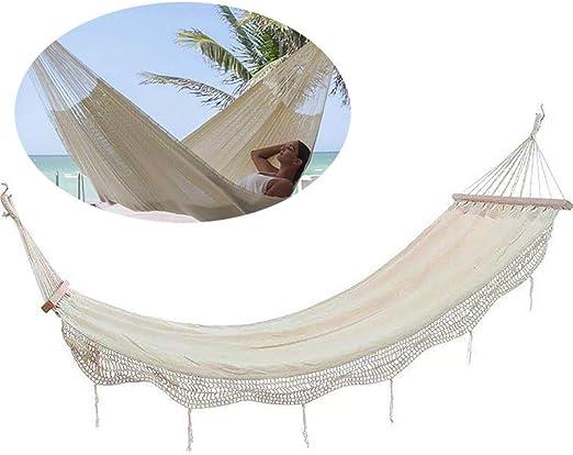 QJJML hamacas Colgantes, hamacas terraza Exterior,hamacas Jardin portátil y Ultra-Ligera,Hamaca portátil al Aire Libre de la Playa del jardín Interior Que acampa de la Borla de la Moda,B: Amazon.es: Hogar