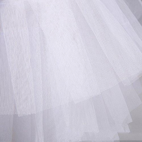 iShine Enagua Miriñaques Falda de Hilo Falda de Novia de Tocar Fondo Tutu Falda para Mujeres tipo 1