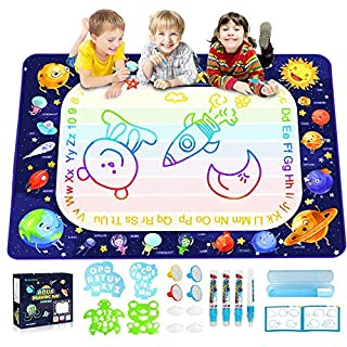 Betheaces Aqua Magic Doodle Mat - Extra Large Water Drawing Mat Toddler Toys Gifts Painting Writing Color Mat Kids Toys for Boys Girls Age of 3 4 5 6 7 8 Year Old 40 x 28 Inches