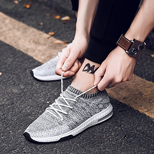 TIOSEBON Lightweight Mens Casual Sneakers Breathable Athletic Running Shoes F-1720 Light Gray gvBNu7Y