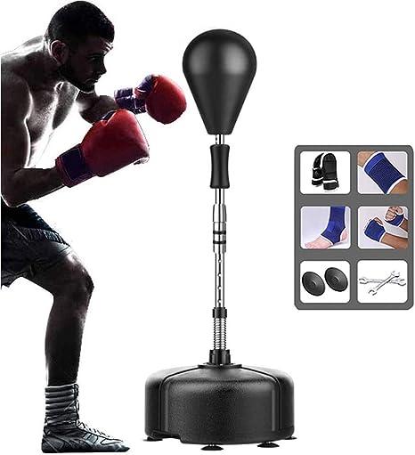 Solid Boxing Speed Ball Home Gym Training Freestanding Bag Punching Bag Black UK