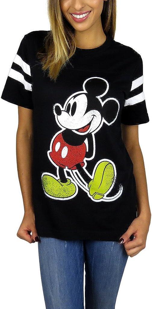 Disney Womens Mickey Mouse Varsity Football Tee