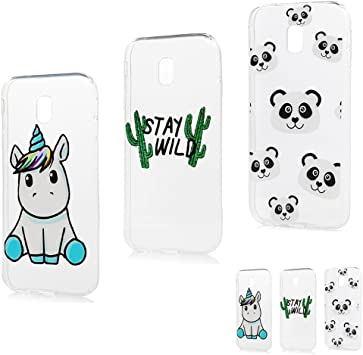 Coque pour Samsung Galaxy J3 2017 Silicone Housse Etui Protection Mince Souple Gel Case Cover TPU Original Motif Coques pour Apple Samsung Galaxy J3 ...