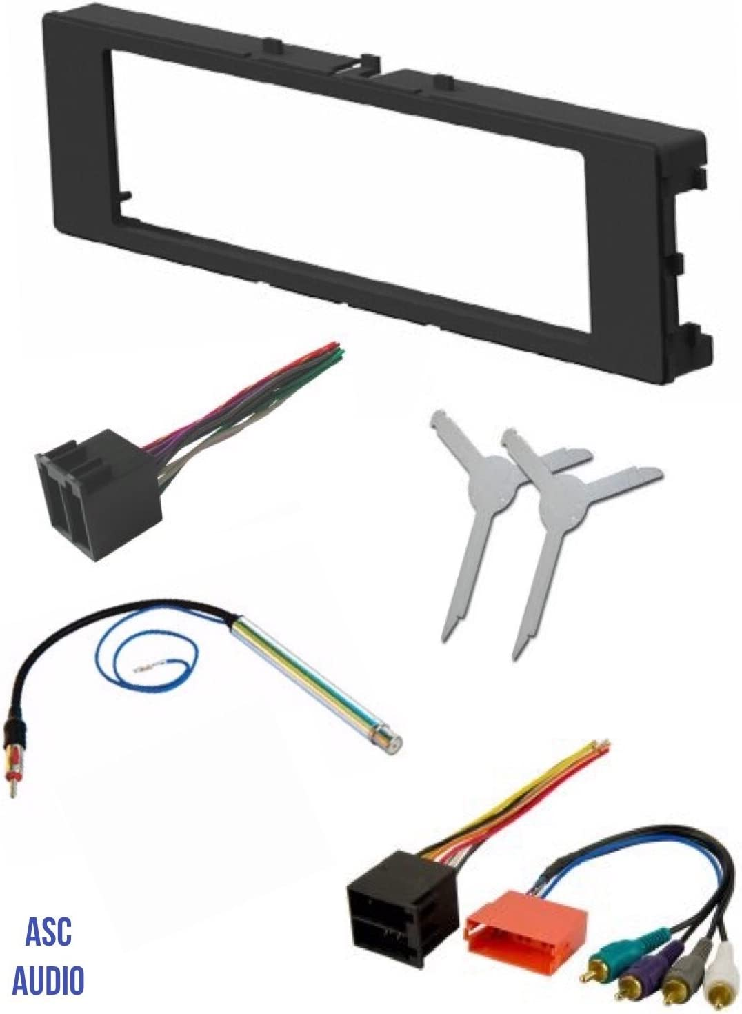 Amazon.com: ASC Car Stereo Install Dash Kit, Wire Harness, Antenna Adapter,  and Radio Removal Tool for Installing an Aftermarket Single Din Radio for  1996-1999 Audi A4 A6 A8 and 2000-2006 Audi TT | Audi Tt Dashboard Wiring Harness |  | Amazon.com