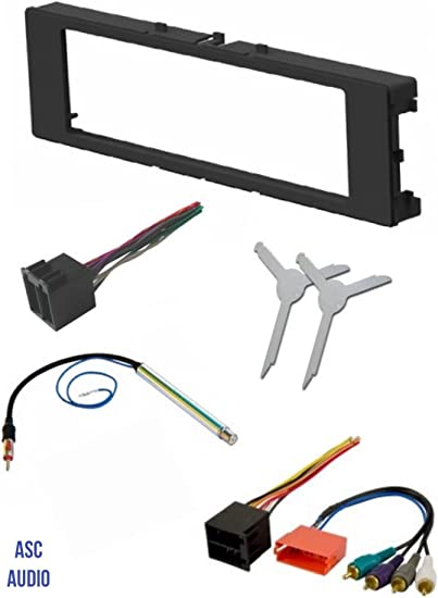 Amazon.com: ASC Car Stereo Install Dash Kit, Wire Harness, Antenna Adapter,  and Radio Removal Tool for Installing an Aftermarket Single Din Radio for  1996-1999 Audi A4 A6 A8 and 2000-2006 Audi TT