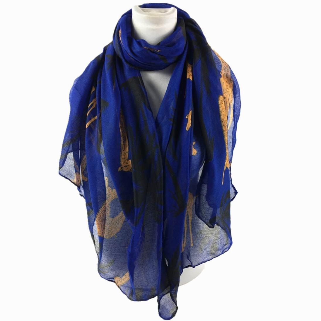 HUHU833 Écharpes châle foulards Femmes mode impression girafe longue  écharpe châle Automne Hiver 8880f0102e3