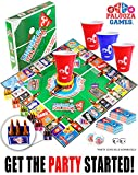 """DRINK-A-PALOOZA Board Game: combines """"old-school"""" + """"new-school"""" drinking games & adult games featuring"""