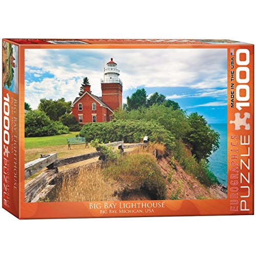 EuroGraphics Big Bay Lighthouse, Michigan Puzzle (1000-Piece) (Bay Lighthouse)