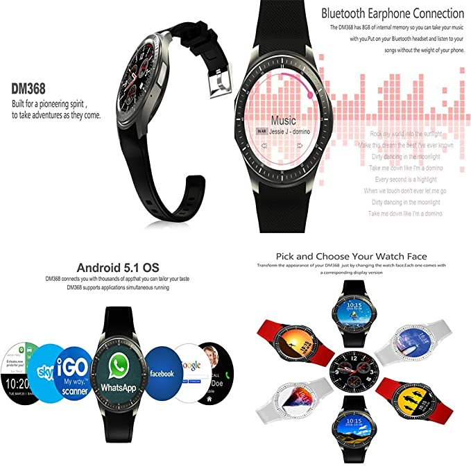 Amazon.com: Sports Watch, 1.39 Inch AMOLED Screen - 512MB + ...