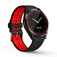 CASETHRONE - Reloj Inteligente Bluetooth 4.0 Smart Watch Pantalla Táctil Soporta SIM / TF Impermeable para Android
