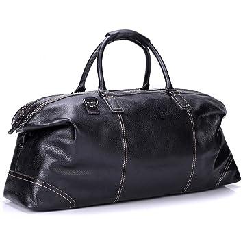 2969375cee11 Bruce Wang Genuine Leather Travel Bag Luggage Bag Vintage Business Shoulder Bag  Weekend Bag Hand Bag