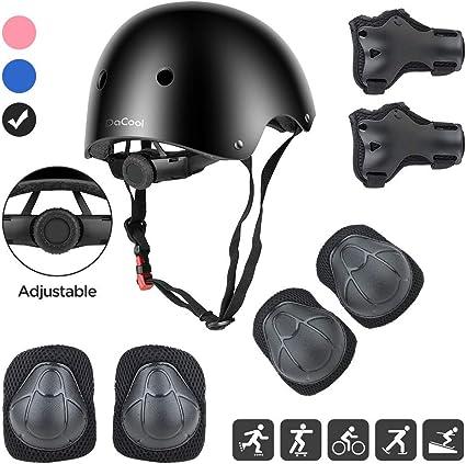 Boys Girls Childs Kids Safety Helmet /& Knee /& Elbow Pad Set Cycling Skate Bike