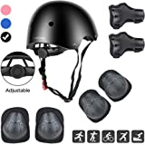 DaCool Kids Helmet Pad Set Elbow Knee Wrist Pads for Sports Protective Gear Set Adjustable Safety Set with Strap for 3~10yrs Girls Boys Toddler Child Bike Cycling Skating Roller Scooter Outdoor Sports