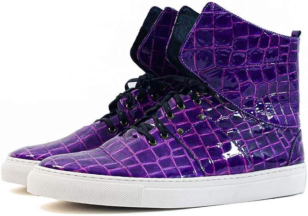 Handmade Italian Mens Color Purple