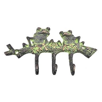 indioshelf hecho a mano 4 Artístico vendimia Multicolor Latón pátina ranas llave Manos Hantiguoers /pared Manos para toallas: Amazon.es: Oficina y papelería