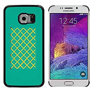 Be Good Phone Accessory // Dura Cáscara cubierta Protectora Caso Carcasa Funda de Protección para Samsung Galaxy S6 EDGE SM-G925 // Pattern Stripes Pattern Turquoise Matches