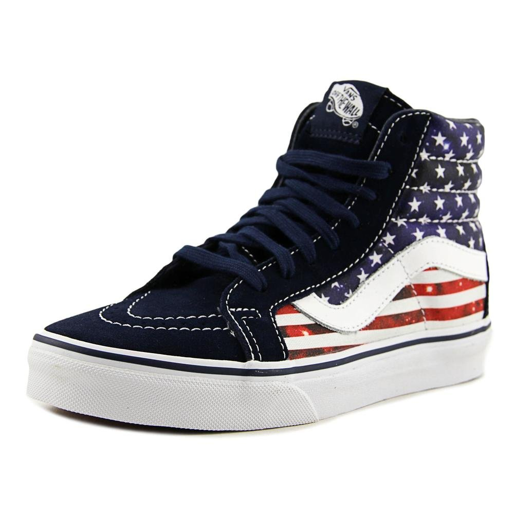 Vans Unisex Sk8-Hi Slim Women's Skate Shoe B019KW6Q7O 8 M US Women / 6.5 M US Men|Dress Blues/True White