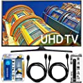 """Samsung UN40KU6290 - 40"""" Class 6-Series 4K Ultra HD Smart LED TV w/ Accessory Bundle includes TV, Screen Cleaning Kit, 6 Outlet Power Strip with Dual USB Ports and HDMI Cables"""