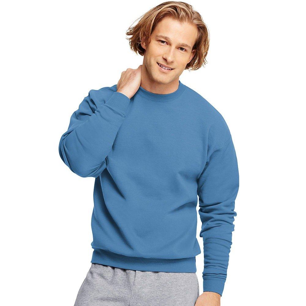 Denim Blue L 7.8oz ComfortBlend Fleece Crew