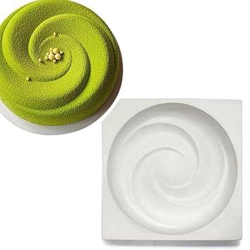 Fyore - Molde de silicona para tartas con forma de corazón con diamante 3D, sin