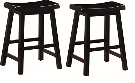 Cool 24 Inch Wooden Counter Stools Black Set Of 2 Beatyapartments Chair Design Images Beatyapartmentscom