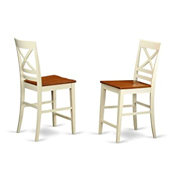 Swell Quincy Counter Height Stools With X Back In Buttermilk And Cherry Finish Unemploymentrelief Wooden Chair Designs For Living Room Unemploymentrelieforg