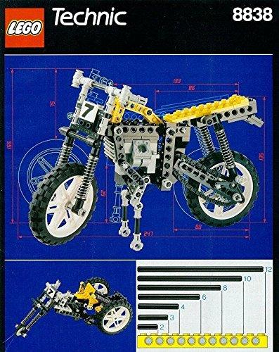 1991 Lego Technic SHOCK CYCLE Motorcycle Set #8838