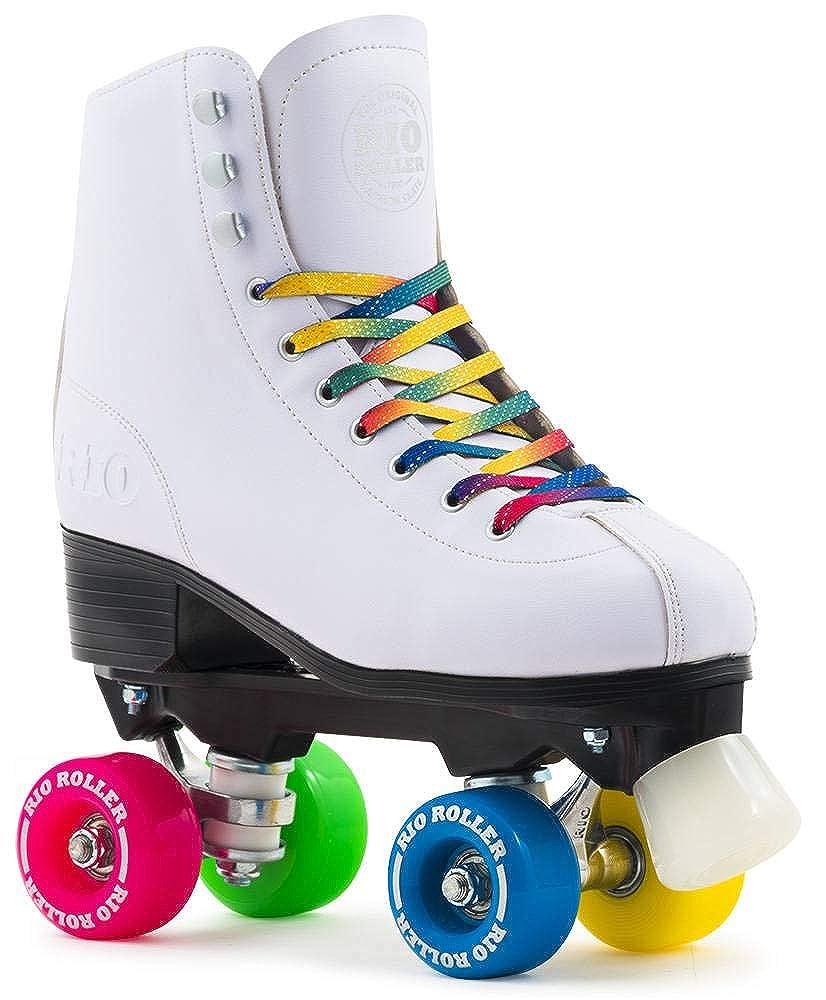 Blanc - rose - bleu - vert Taille 37 Rio Roller Roller Quad Figure (Petites Pointures)