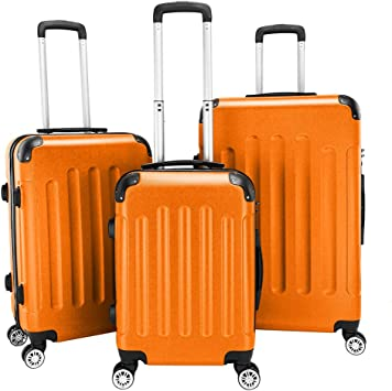 Kepooman 3 Piece Luggage Sets Trolley Suitcase 20in 24in 28in Traveling Luggage Suitcase with TSA Lock /& Spinner Wheels,Lightweight Storage Luggage Sets,Red