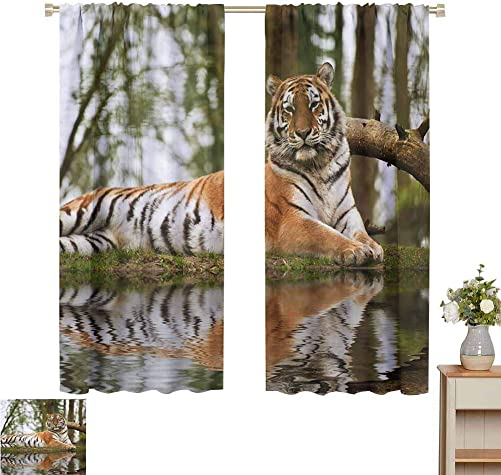 Tiger Curtains Windows Curtain